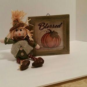 Other - Fall Decor Pumpkin Scarecrow